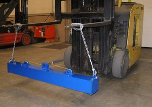 Releasable Hanging Forklift Magnetic Sweeper
