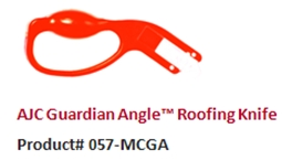 The AJC Guardian Angle Roofing Knife is designed for cutting shingles