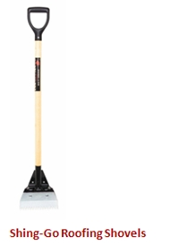 The AJC Wood Handle Shing-Go Roofing Shovel is a roofer's ideal tool